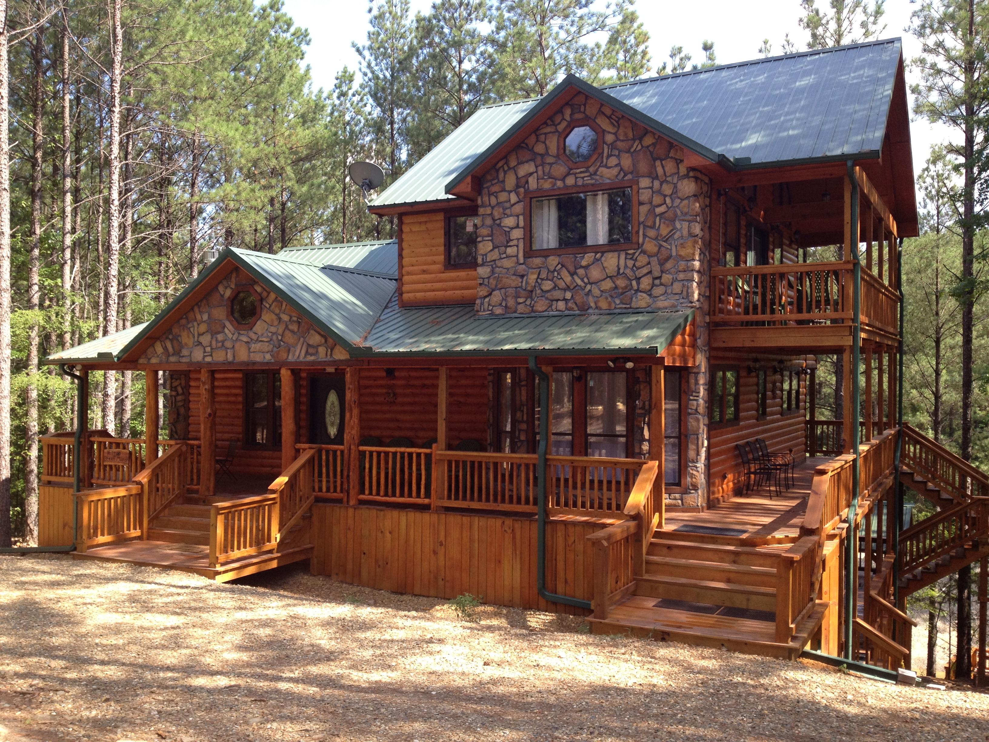 Lakefront cabin rentals in oklahoma hilltop green manor for Grand lake oklahoma cabin rentals