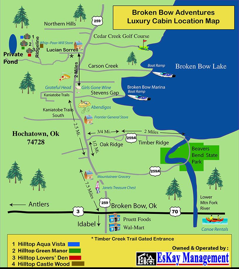 Map Of Broken Bow Oklahoma Wisconsin Map
